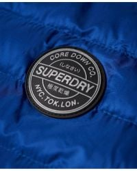 Superdry - Blue Core Down Hooded Jacket - Lyst