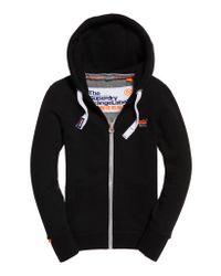 Superdry - Black Orange Label Primary Zip Hoodie - Lyst