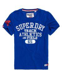 Superdry - Blue Trackster Lite T-shirt for Men - Lyst