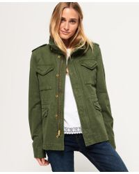 Superdry - Green Rookie Classic Military Jacket - Lyst