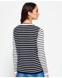 Superdry - Blue Le Marais Stripe Knit Jumper - Lyst