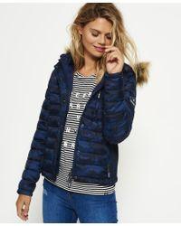 Superdry - Blue Fuji Slim Double Zip Hooded Jacket - Lyst