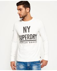 Superdry   White Surplus Goods Graphic T-shirt for Men   Lyst