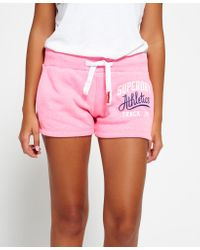 Superdry | Pink Track & Field Shorts | Lyst