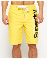 Superdry | Yellow Boardshorts for Men | Lyst