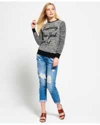 Superdry - Multicolor Embroidered Cut & Sew Crew Neck Sweatshirt - Lyst