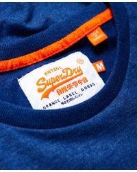 Superdry - Blue Vintage Embroidered T-shirt for Men - Lyst