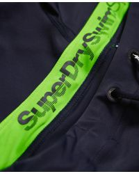 Superdry - Blue Swim Sport Midi Trunk for Men - Lyst