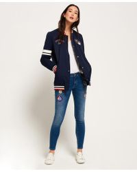 Superdry - Blue Pacific Patch Bomber Jacket - Lyst