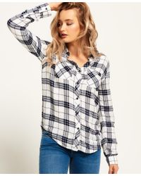 Superdry | Blue Midwest Dreaming Buffalo Check Shirt | Lyst