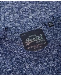 Superdry - Blue Croyde Cable Knit Jumper - Lyst
