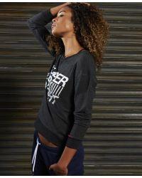 Superdry - Black Sd Sport Lightweight Crew Jumper - Lyst