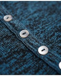 Superdry - Green Slim Fit Knit Grandad Top - Lyst