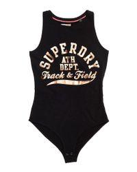 Superdry Black Track & Field Freshness Bodysuit