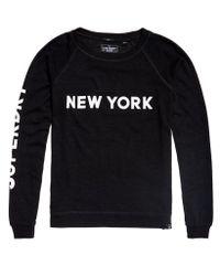 Superdry - Black New York City Crew Jumper - Lyst