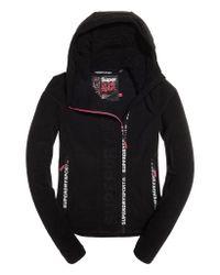 Superdry Black Sport Swerve Zip Fleece