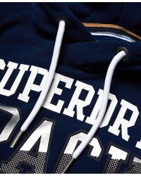 Superdry - Blue Super Track Metallic Hoodie for Men - Lyst