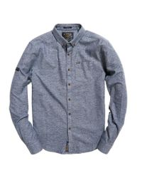 Superdry - Blue Academy Oxford Shirt for Men - Lyst