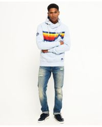 Superdry - Blue Mountain Line Hoodie for Men - Lyst