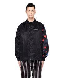 Yohji Yamamoto - Black Floral Printed New Era Jacket for Men - Lyst