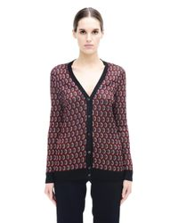 Marni - Red Acetate Cardigan - Lyst