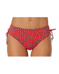 Anne Cole - Red Sunnies Alex Side Tie Swim Bottom - Lyst