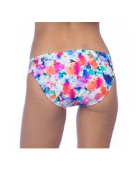 Kenneth Cole Reaction - Blue Cabana Cutie Sash Tab Bikini Swim Bottom - Lyst