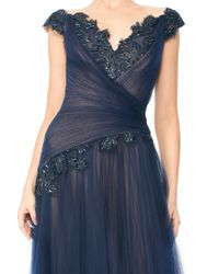 Tadashi Shoji | Blue One-shoulder Shutter Pleat Dress | Lyst