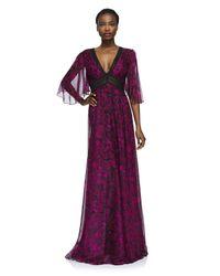 Tadashi Shoji Purple Raelynn Gown