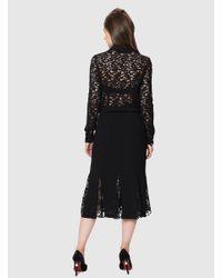 Roman - Black Transparent Detailed Skirt - Lyst