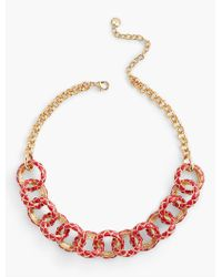 Talbots | Metallic Quilted Necklace | Lyst