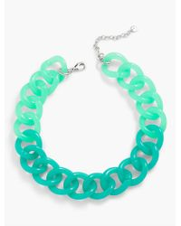 Talbots - Green Colorblocked Link Necklace - Lyst
