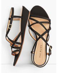 Talbots - Black Capri Leather Sandals - Lyst