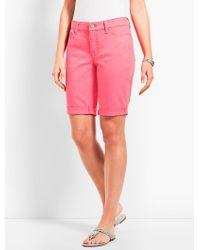 "Talbots - Pink 9"" Girlfriend Jean Short - Lyst"
