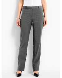 Talbots - Gray Seasonless Wool Subtle Bootcut Trouser - Lyst