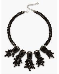 Talbots - Black Oversized Bead Statement Necklace - Lyst