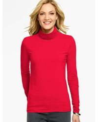 Talbots - Red The Classic Turtleneck Tee - Lyst