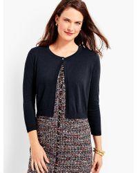 Talbots | Blue Button-top Dress Shrug | Lyst