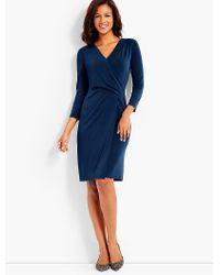 Talbots | Blue Bella Faux-wrap Sheath Dress | Lyst