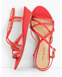 Talbots - Red Capri Leather Sandals - Lyst