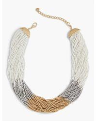 Talbots - Metallic Mardi Gras Twist Necklace - Lyst