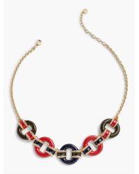 Talbots - Multicolor Military-inspired Stripes & Ring Necklace - Lyst