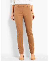 Talbots - Brown Bi-stretch High-waist Straight-leg Pant - Lyst