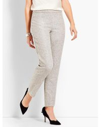 Talbots - Gray Sparkle Tweed Ankle Pant - Lyst