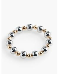 Talbots | Metallic Mixed-bead Stretch Bracelet | Lyst