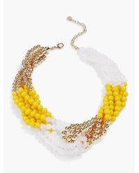 Talbots | Metallic Knotted-bead Necklace | Lyst