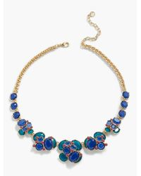 Talbots - Multicolor Faceted Stone Cluster Necklace - Lyst