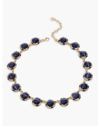 Talbots - Blue Cat Eye Cabochon Necklace - Lyst