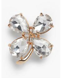 Talbots | Metallic Lucky Four-leaf Clover Pin | Lyst