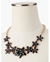 Talbots - Black Pretty Posy Necklace - Lyst